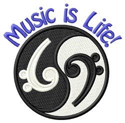 Music Is Life! embroidery design
