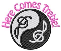 Here Comes Treble! embroidery design