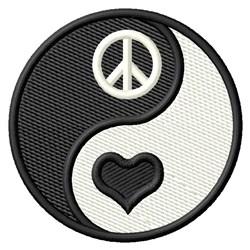 Peace, Love embroidery design