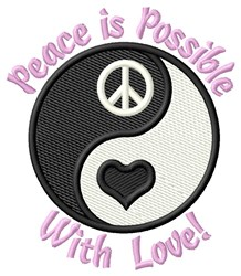 Peace Possible With Love embroidery design