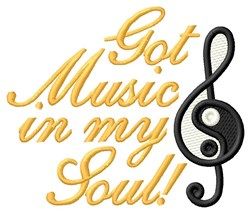 Music In My Soul embroidery design