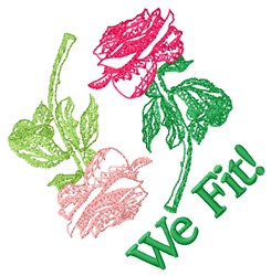 We Fit! embroidery design