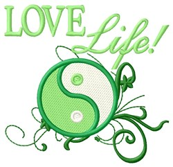Love Life! embroidery design