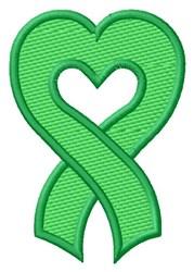 Heart Ribbon Organ Donor embroidery design