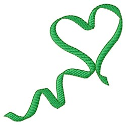 Heart Ribbon Organ Donor embroidery design