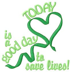 Save A Life! embroidery design