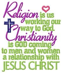 Religion embroidery design