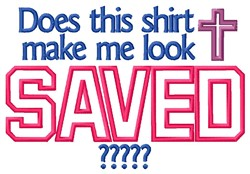 Look Saved embroidery design