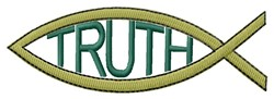 Truth embroidery design