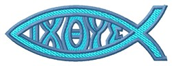 Ichthus embroidery design