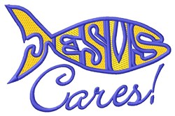 Jesus Cares embroidery design