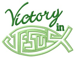 Victory In Jesus embroidery design