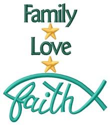 Family Faith embroidery design