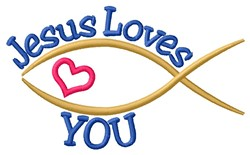 Loves You embroidery design