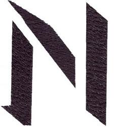 Alphabet embroidery design