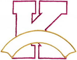 Athletic Banner K embroidery design