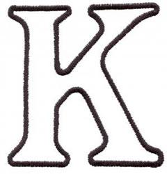 Applique K embroidery design