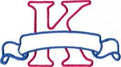 Applique Banner K embroidery design