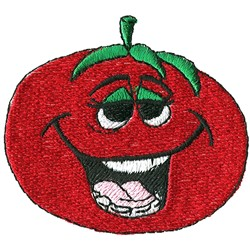 Tomato Face embroidery design