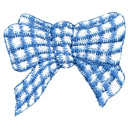Gingham Bow embroidery design