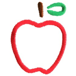 Abstract Apple embroidery design