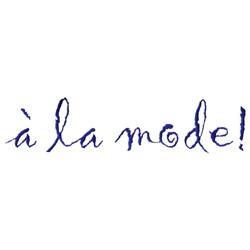 A la Mode embroidery design