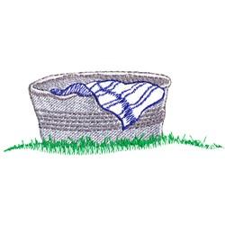 Washtub embroidery design