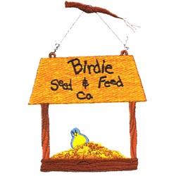 Bird Feeder embroidery design