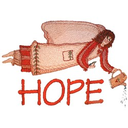 Hope Angel embroidery design