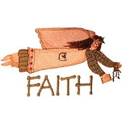 Faith Angel embroidery design