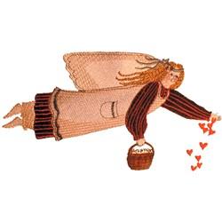 Gardening Angel embroidery design