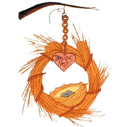 Bless Our Nest embroidery design