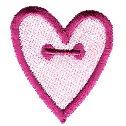 Heart Button embroidery design
