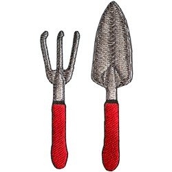 Gardening tool embroidery design