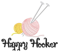 Happy Hooker embroidery design