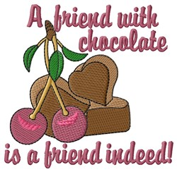 Chocolate Friend embroidery design