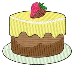 Strawberry Cake embroidery design