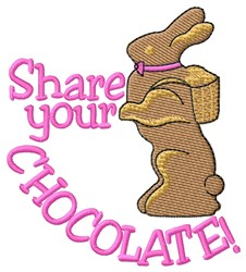 Share Chocolate embroidery design