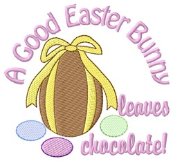 Good Easter Bunny embroidery design