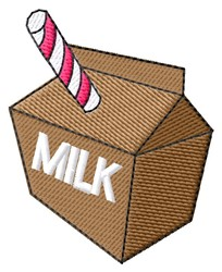 Milk Carton embroidery design