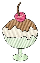 Sundae embroidery design