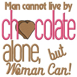 Live By Chocolate embroidery design