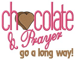 Chocolate & Prayer embroidery design