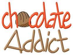 Chocolate Addict embroidery design