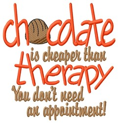 Chocolate Therapy embroidery design