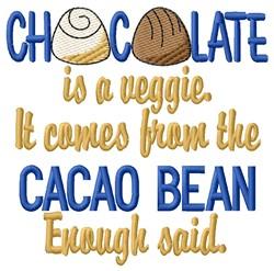 Cacao Bean embroidery design