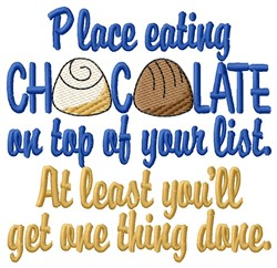 Chocolate List embroidery design
