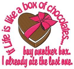 Box Of Chocolates embroidery design