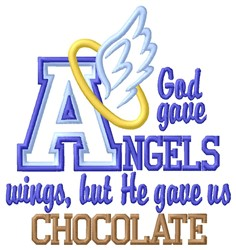 God Gave Chocolate embroidery design