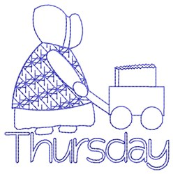Thursday Shopping embroidery design